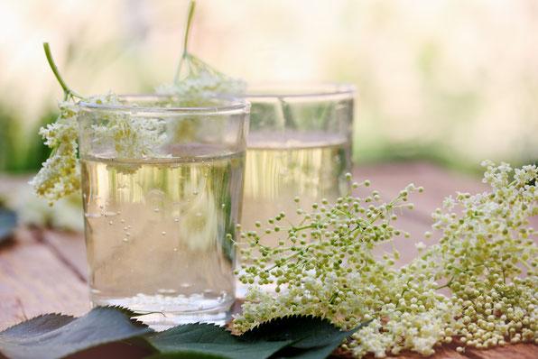 Holunderblüten; Hugo; Hochzeitsdrinks; Signature Drinks; Catering