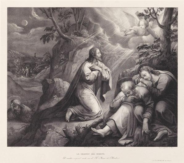 La Oración en el huerto Augusto Gugliekmi. Museo del Prado.