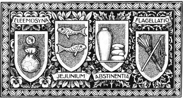 Limosna, ayuno, abstinencia y penitencia: preceptos de la cuaresma.