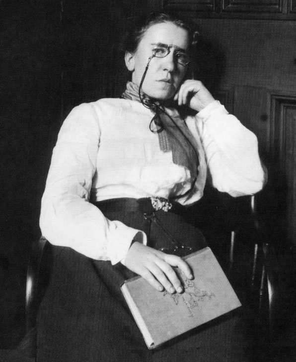 old photo of young Emma Goldman - anarchist