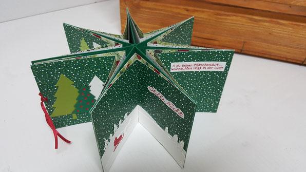 Sternkarte, Sternalbum, Minialbum, Weihnachten, Foto,  Geschenk, Stampin' Up!, Stempelkiste