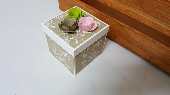 Explosionsbox; Hochzeit; Geschenk; Geldgeschenk; Stampin Up; Stempelkiste