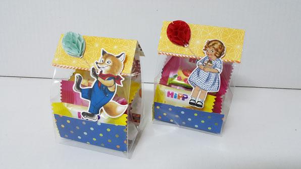 Nostalgischer Geburtstag; Tüte; Geschenk; Verpackung; Mitbringsel; Stampin Up; Designerpapier