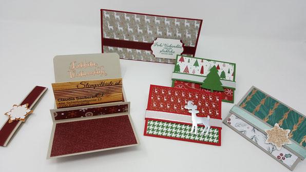 Gutscheinhalter, Gutscheinverpackung, Weihnachten, Stampin' Up!, Stempelkiste