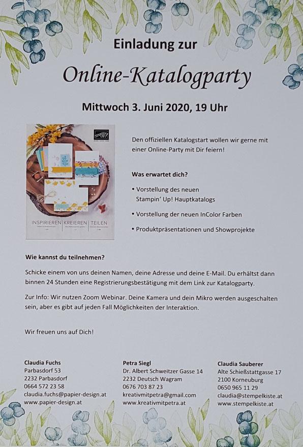 Katalogparty, Stampin Up, Jahreskatalog 2021, Stempelkiste