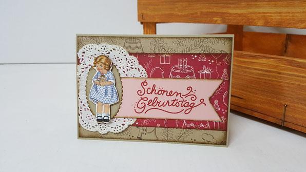 Geburtstagskarte; Nostalgischer Geburtstag; Stampin Up