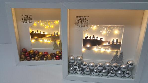 Ikea Ribba Rahmen; Homedeko; Weihnacht; Stampin Up; Stempelkiste