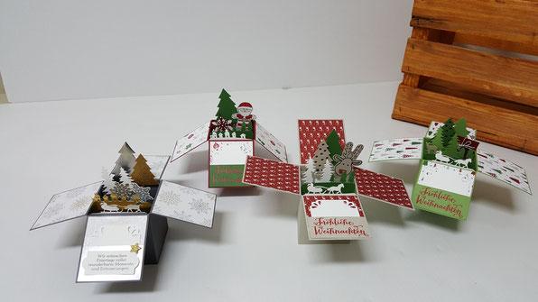 Stampin' Up!; Würfelkarte; 3D Karte; Weihnachten; Stempelkiste
