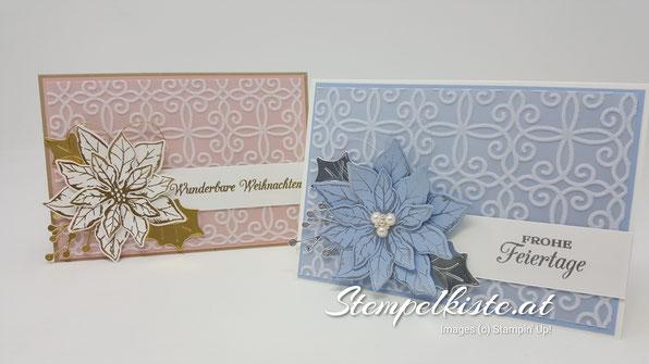Feiertage, Weihnachten, Weihnachtskarte, Weihnachtsstern, Stampin Up, Karten, Stempelkiste
