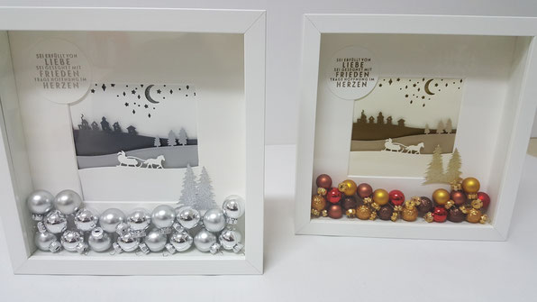 Stampin Up; Weihnacht; Ikea Ribba Rahmen; Stempelkiste
