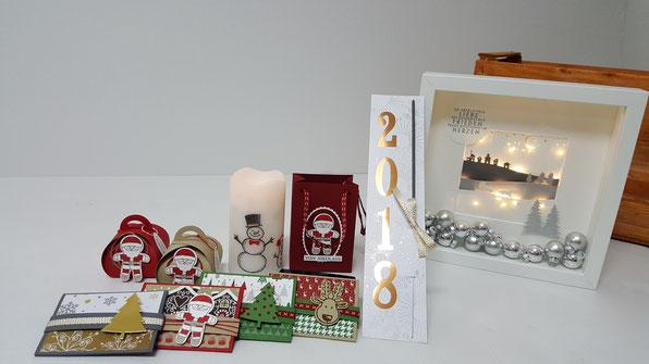 Weihnachten, Nikolo; Nikolaus; Gutscheinhalter; Stampin' Up!; Ikea Ribba Rahmen; Stemplekiste
