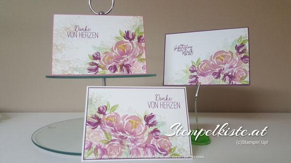 beautiful friendship, Blumen, Schmetterlingsglück, Stampin Up, Geburtstag, Dankeskarte, Geburtstagskarte, Stempelkiste, Glückwunschkarte zum Geburtstag