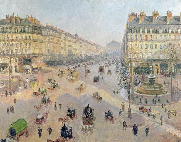 Die Avenue de l'Opéra oder Place du Théâtre Français 1898 Öl auf Leinwand 73 x 91,8 cm Reims, Musée des Beaux-Arts