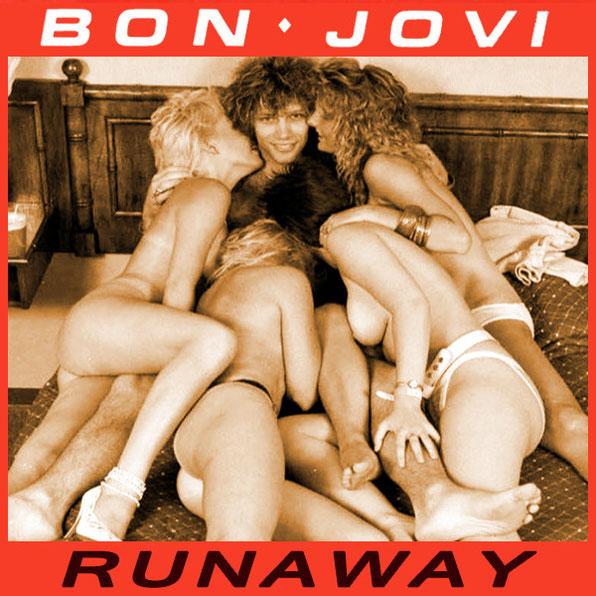 copertina runaway, bon jovi con donne nude
