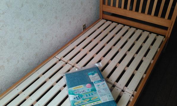 すのこを置けばベッドは完成