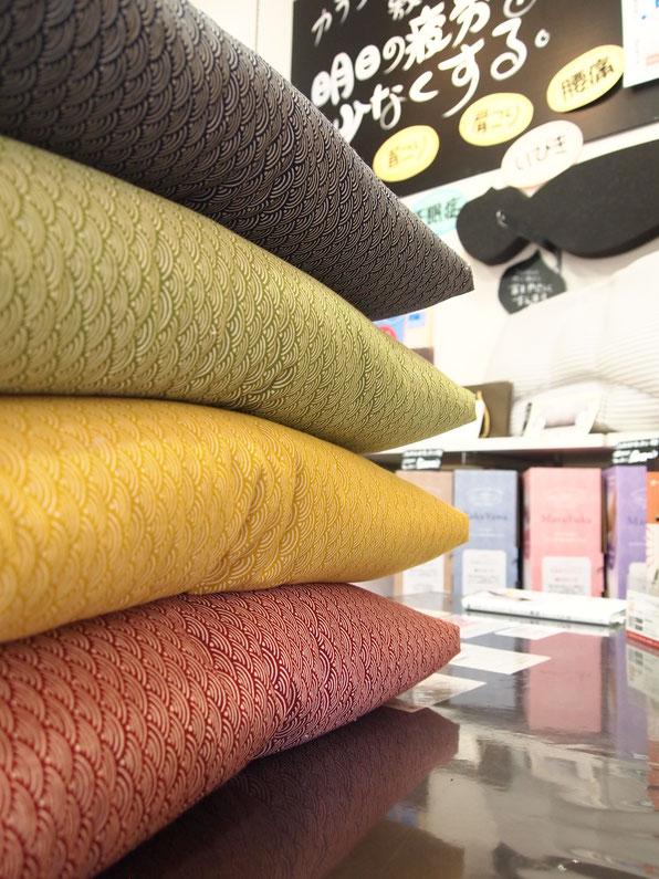色とりどりの手作り座布団
