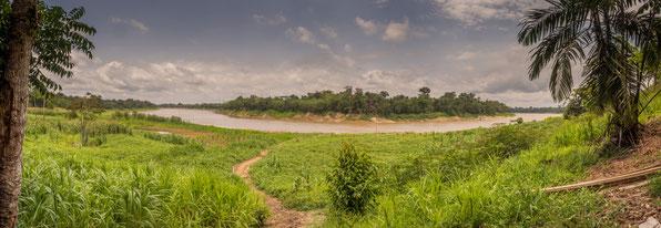 Javari Fluss Matses Grenze Peru/Brasilien