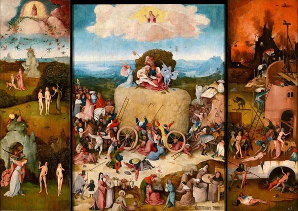 Воз сена - самые известные картины Босха