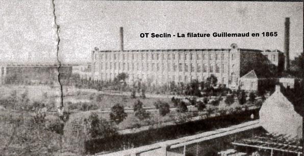 """La filature Guillemaud en 1865 (source : """"Si Seclin m'était conté..."""" paru en 2003)"""