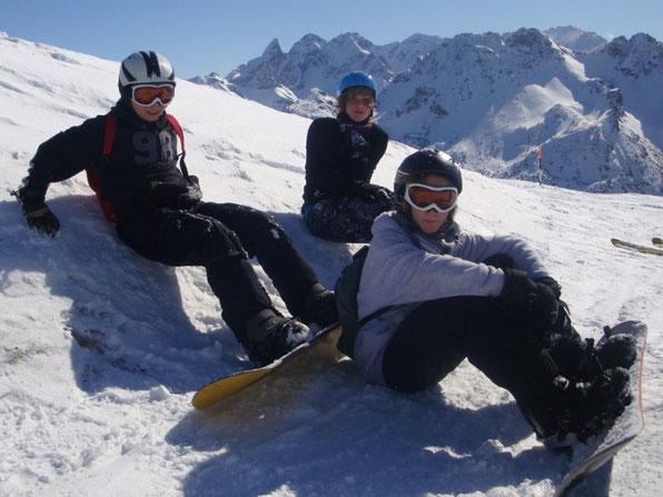 Unsere Snowboarder machen Pause