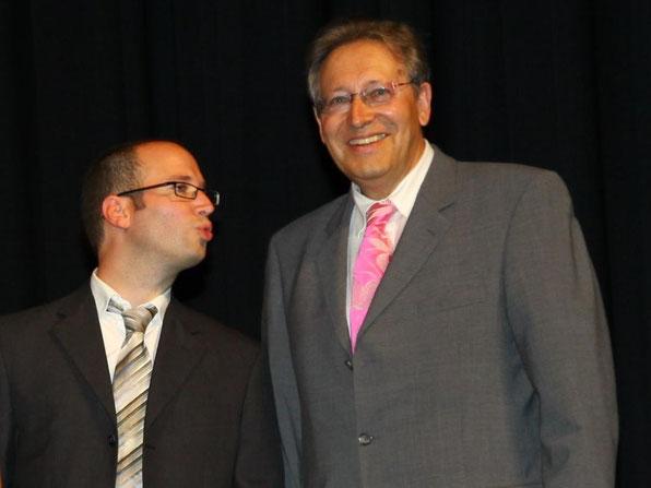 Unser Päd. Koordinator Jochen Geeck und unser Schulleiter Joachim Paul