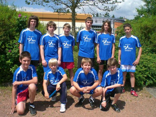 Leichtathletikmannschaft WK IV der Realschule plus