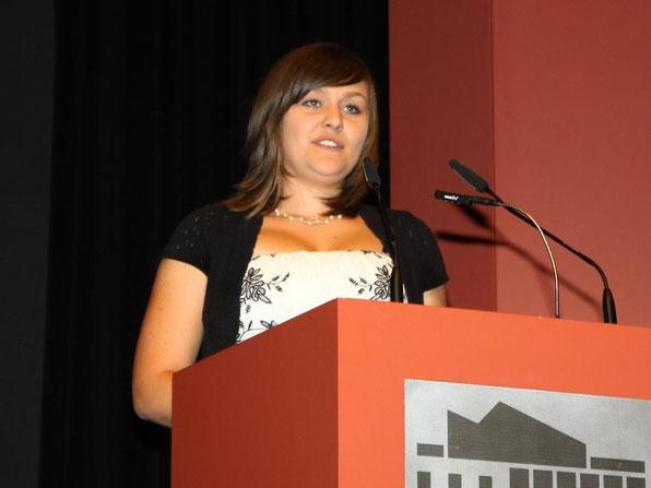 Michelle Schmidt (10c) bei ihrer Abschlussrede