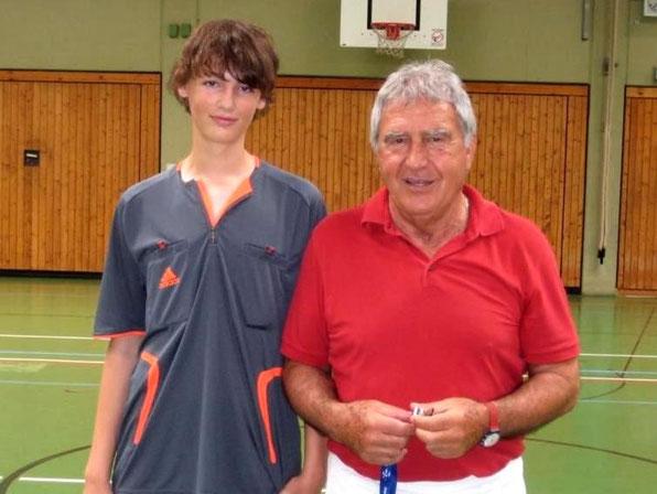Max Braun (9a) und Herr Djordje Nikolic