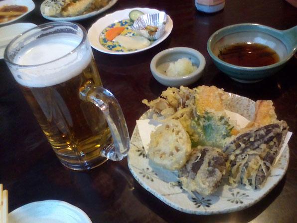 「芭蕉そば御膳Bセット」の野菜天ぷら