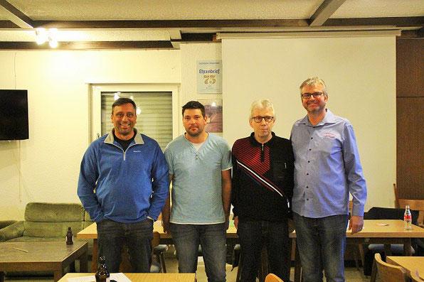 Mitglieder vom alten Vorstand v.l Gerd Backes, Sascha Tritz, Bernd Simon und Markus Held