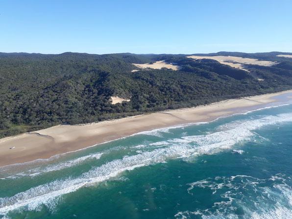 75 Mile Beach Scenic Flight Queensland Fraser Island