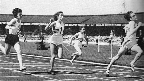 Jenny Smart wins the 100 metres for GB v Hungary