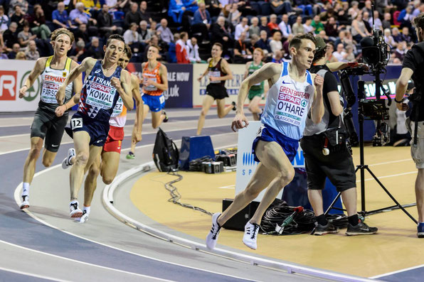 Chris O'Hare at the 2019 European Indoor Champs (photo by Bobby Gavin)
