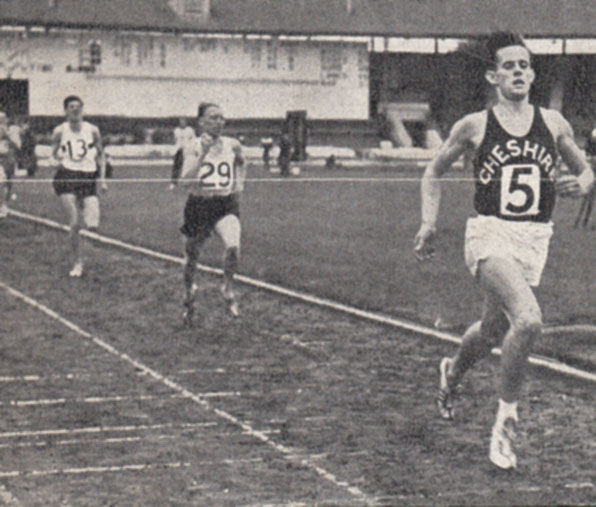 Mike Berisford - first Scot sub-4 - wins 1957 Inter counties