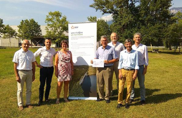Remise de don de la part d'EDF Délégation Régionale Auvergne Rhône-Alpes au profit d'AgiSens