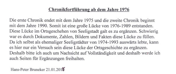 Bild: Teichler Seeligstadt Chronik 1976