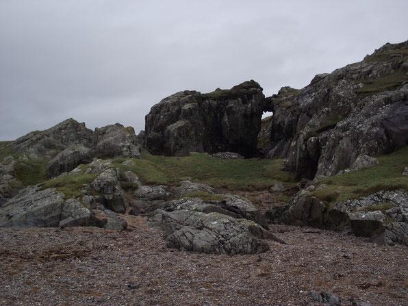 beach and rocks, Isle of Islay, Inner Hebrides, Scotland.