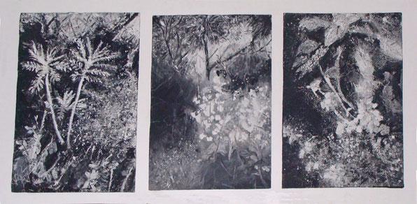 mixte collage, peinture