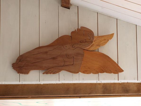 L'ange. Platane, cèdre .2014.(100x60cm) . 300€