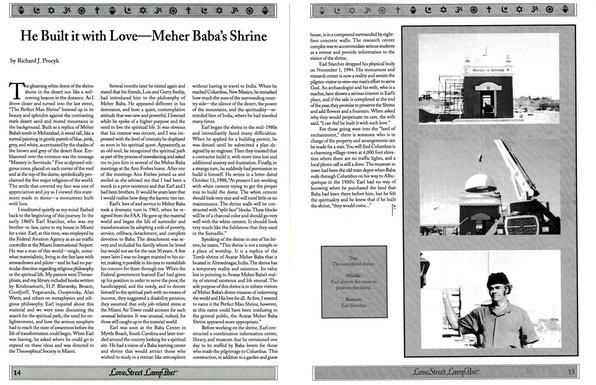 Love Street Lamp Post - 1997. Reprinted from the above article in the White Horse Journal.