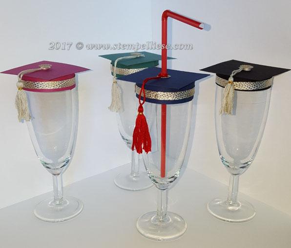 Matura#Abitur#Mützefürsektglas#tischdeko#sektglasdeko#