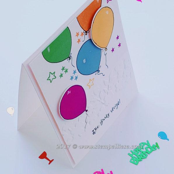 stempelliese.com#Balloonparty#stampinup#Geburtstag#Karte#Feiern#Stemeplkissen