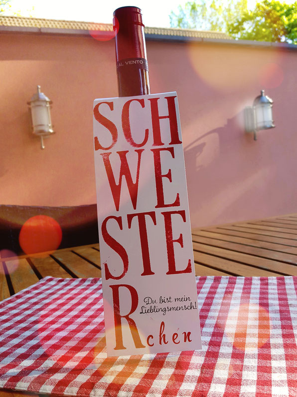 Flaschenanhaenger#Etikett#www.stempelliese.com#Weinverpackung#