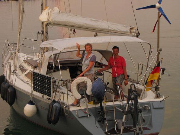 BEJAJA / ALGERIA  beim kurzzeitigen Ablegen  6 / 2011 ( Ein Frachter musste raus )