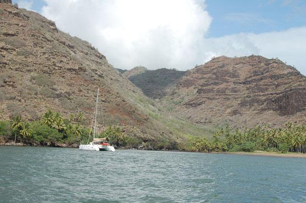 In der Bucht Hanamenue, Nordseite von Hiva Oa