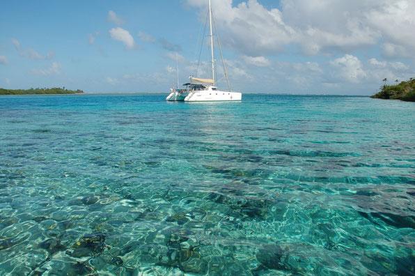 In den Cajos Hollandes, mit Abstand der schönste Spott unserer diesjährigen Tour. Ankern zwischen Haien und Lobstern