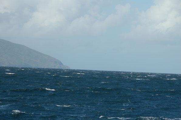 Man freut sich, wenn am Horrizont ein Segel auftaucht, so wie hier.