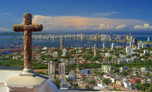 Cartagena de Indias  von oben            Colombia,  Februar 2015