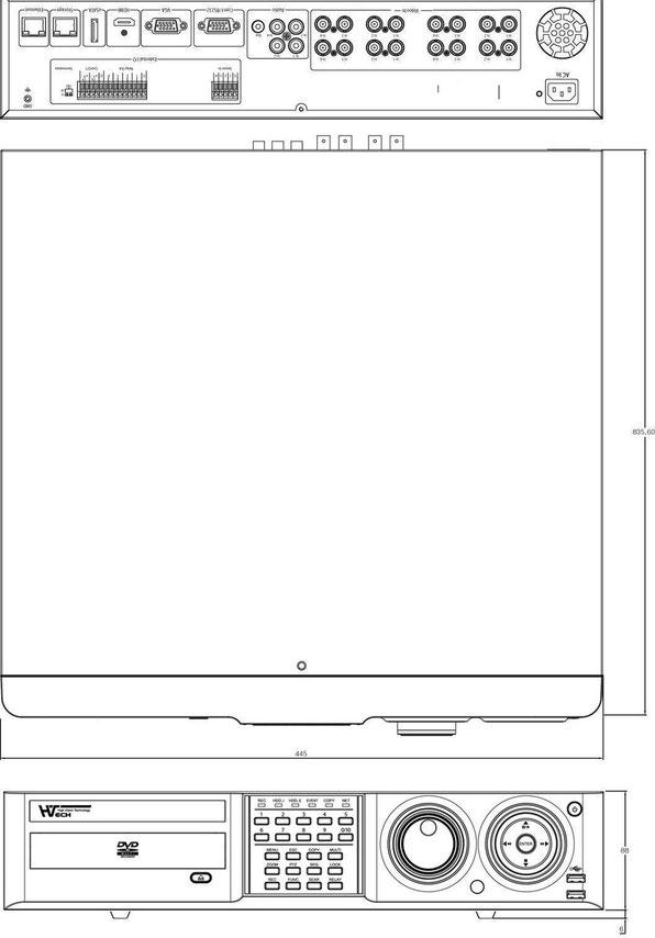 HD-SDI16チャンネルDVR図面