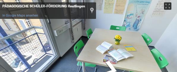Pädagogische Schülerförderung Standort Reutlingen